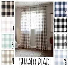 Green Gingham Curtains Nursery by Plaid Curtains Buffalo Plaid Free Shipping 2 Curtain