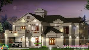 Villa Floor Plans India by Super Luxury 6 Bedroom Villa Kerala Home Design And Floor Plans