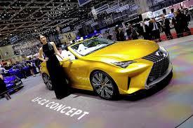 lexus lf c2 lexus hides attention seeking lf c2 concept behind gorgeous model