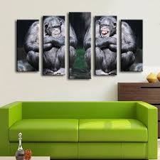 2016 cuadros decoracion 5pcs chimpanzee couple cute animals monkey 2016 cuadros decoracion 5pcs chimpanzee couple cute animals monkey funny wall painting for home decor art print canvas picture in painting calligraphy