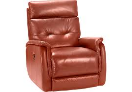 cindy crawford home adelino papaya leather recliner recliners