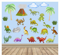 dinosaur wall decals for kids home interior decor dinosaur wall decals for kids