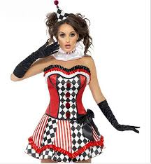 Womens Clown Halloween Costumes Women Halloween Costumes Clown Dress Clown Suit Dresses