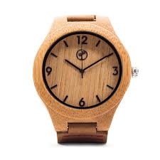 amazon com wooden watch for men by tree people bamboo wood case
