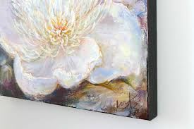 Feng Shui Painting Gentle Light Feng Shui Original Fine Art Painting Peony For