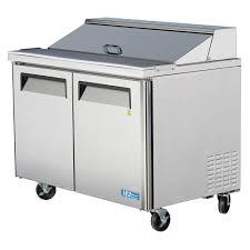 36 inch sandwich prep table turbo air 48 inch 15 cu ft 2 door single hood refrigerated food