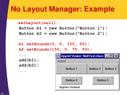 java null layout manager swing java 7 and java 8 programming tutorial layout managers
