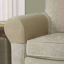 covers for armchairs and sofas amazon com kleeger premium sofa armrest cover set elastic