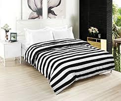 amazon com kuality black white striped soft microfiber easy care