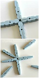 clothespin snowflake ornament 22 1 christmas craft ideas