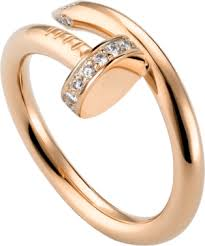 Cartier Wedding Rings by Crb4094800 Juste Un Clou Ring Pink Gold Diamonds Cartier