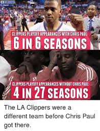 Clippers Memes - cbs sports clippers playoff appearances with chris paul 6 in 6