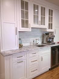 our finished kitchen reno white custom beaded inset cabinets