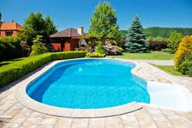 Backyard Swimming Pool Designs by Triyae Com U003d Backyard Inground Pool Landscaping Ideas Various