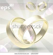 linked wedding rings linked wedding rings stock images royalty free images vectors