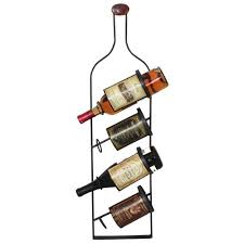 furniture fetching wrought iron and wall mounted metal wine rack