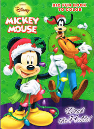 amazon com disney mickey mouse christmas coloring book set 2