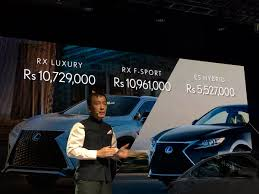 lexus v8 price in india lexus launched in india with rx 450h es300h and lx 450d read
