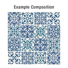 traditional spanish blue tiles pack of 32 moonwallstickers com
