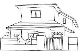 coloring page coloring page house japan common houses coloring