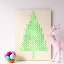alternative cross stitch laser cut tree by cotton clara