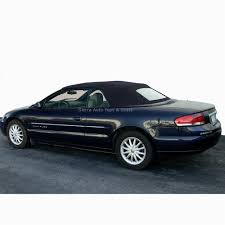 2001 2006 chrysler sebring convertible top black vinyl