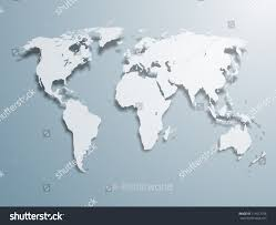 Map Of The World With Continents by 3d Vector World Illustration Smooth Vector Stock Vector 111612758