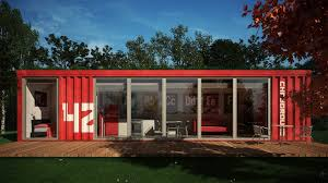 furnitures shipping container homes for one long red container