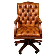 Leather Desk Chair by English Tufted Leather Desk Chair For Sale At 1stdibs