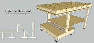 fabriquer une table pliante et hop un établi pliant fait maison kokumotsu
