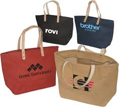 personalized tote bags bulk 4 custom printed jute tote bags for a fiber branded gift