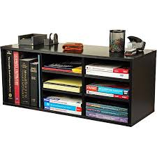 Desk Organizer Shelf 9 Compartment Organizer Black Walmart