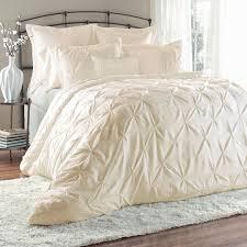 Queen Comforter On King Bed Amazon Com Unique Home 8 Piece Lucilla Pinch Pleat Comforter Set