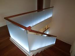 perfect modern stair railing home interior ideas image of led