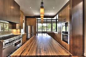 wood countertop kitchen home design ideas and pictures
