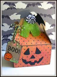 Kraft Halloween Appetizers A Cute Pumpkin Treat Box By Sukie She Used Our Kraft Gable Box