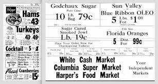 jim white kroger columbia ky thanksgiving ad 1957 on