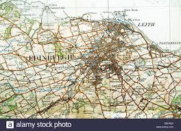 Edinburgh Map Historic Ordnance Survey Map Of Edinburgh Scotland Stock Photo