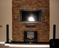 fireplace fancy living room design ideas with brown grey stone
