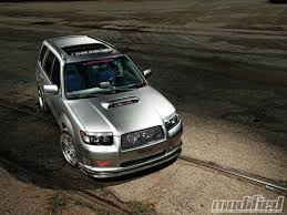 stanced subaru forester what my forester xt dreams that it will become someday vroom