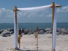 wedding arch kit bamboo wedding arch kit 3 post with fabric ebay