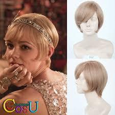 gatsby short hairstyle cos u the great gatsby daisy buchanan short light brown halloween