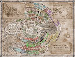 map from lord of the rings map of minas tirith from the lord of the rings by jrr tolkien