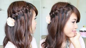4 strand waterfall braid hairstyle for short u0026 long hair youtube
