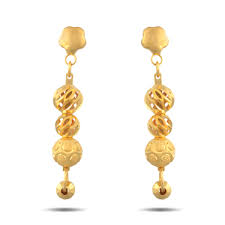 gold ear ring image gold earring at rs 3000 gram s gold earrings id 12382376912