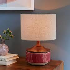 Pink Table Lamps Roar Rabbit Ripple Ceramic Table Lamp Pink West Elm