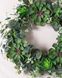 succulent wreath montauk succulent wreath garland swag balsam hill