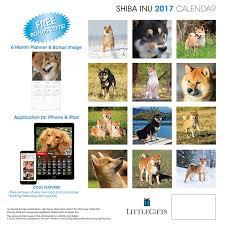 Shiba Inu Christmas Ornament Amazon Com Littlegifts Shiba Inu 2017 Calendar 3066 Office
