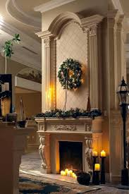 christmas decorations fireplace hearth garland dining room fabric
