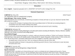 Nfl Resume Sample by Excellent College Student Resumes 4 College Student Resume Example